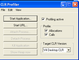 clr profiler waiting for application to start