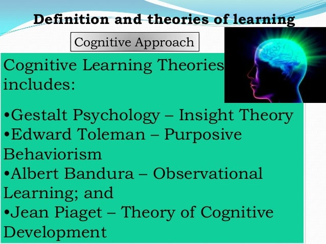 cognitive learning definition dictionary