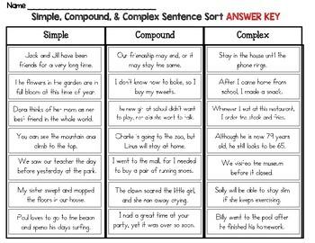 column sentence sample