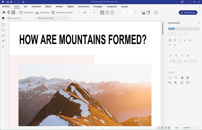 como copiar texto de un pdf escaneado