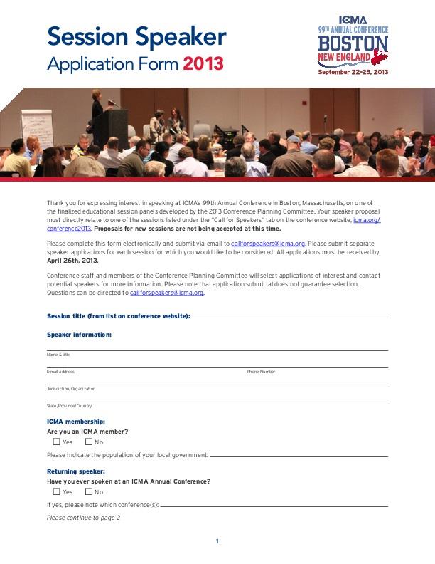 conference speaker application