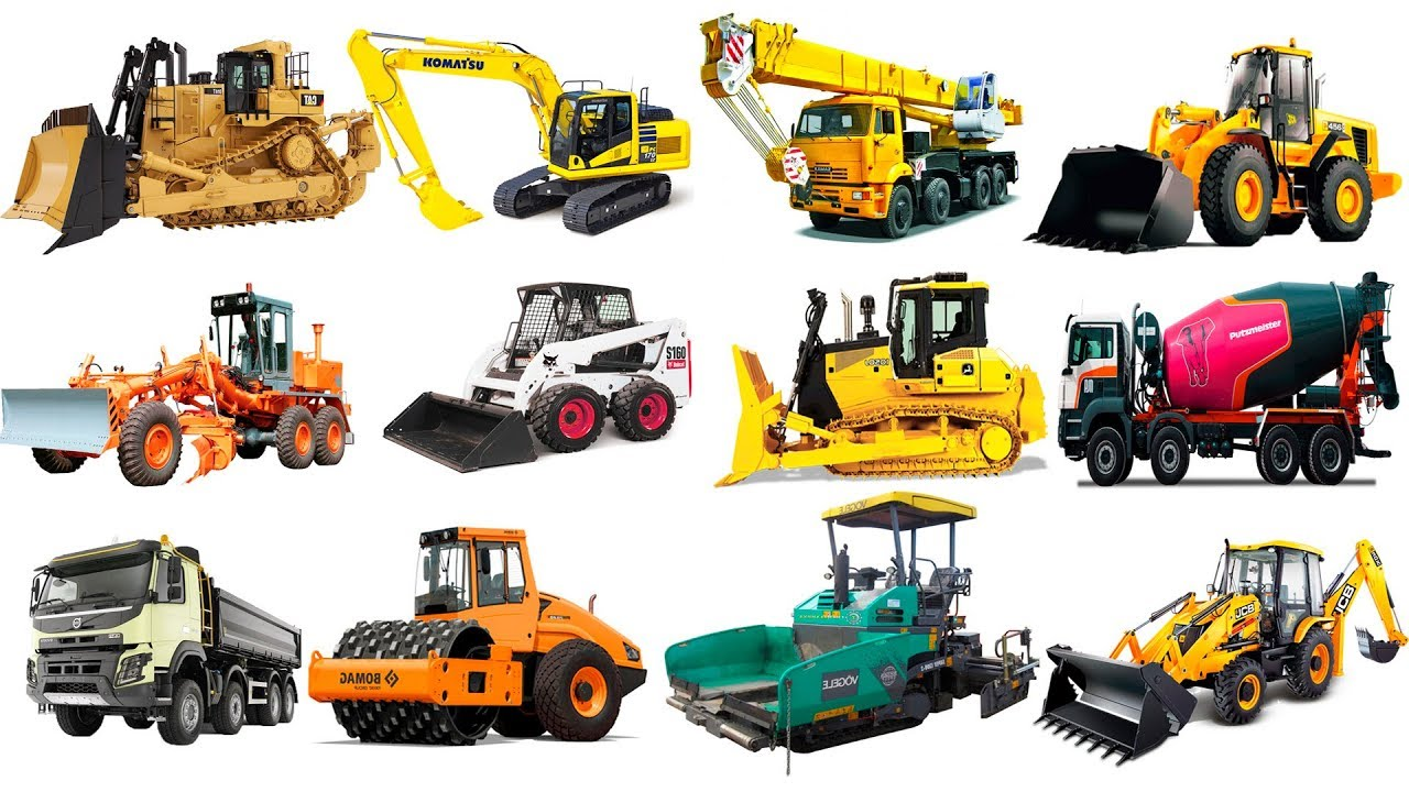 construction vehicles names and pictures pdf