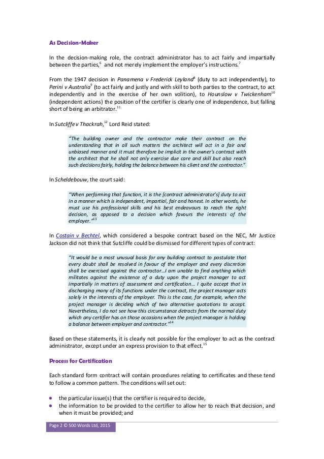 contract administrators instruction