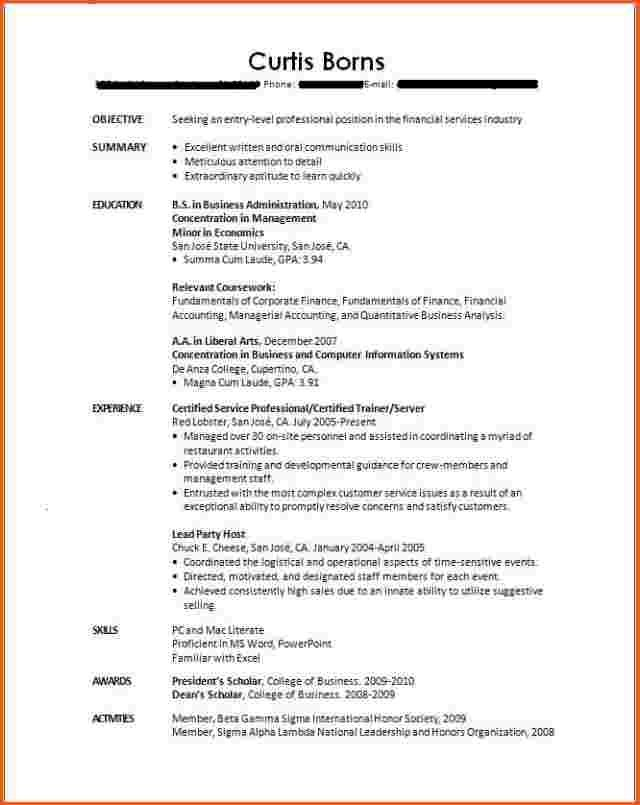 cover letter sample for students with no experience