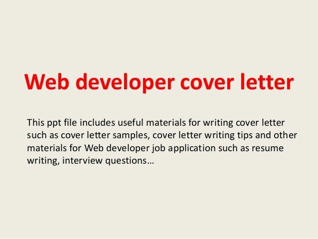 cover letter web application developer