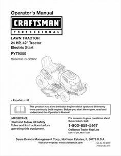 craftsman lawn mower manual 7.25 hp