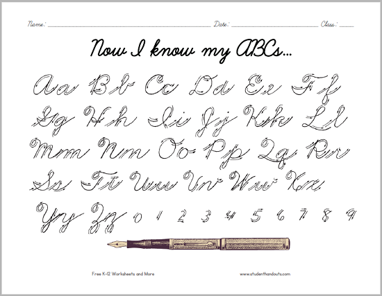 cursive writing worksheets for adults pdf