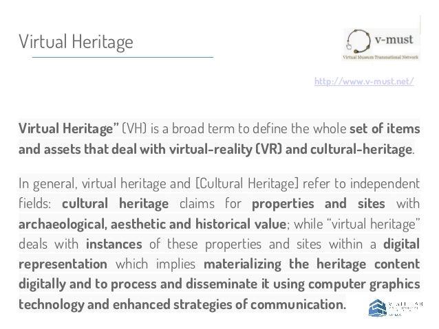 documentation representation dissemination digital heritage