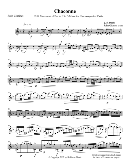 chaconne in d minor piano sheet music pdf
