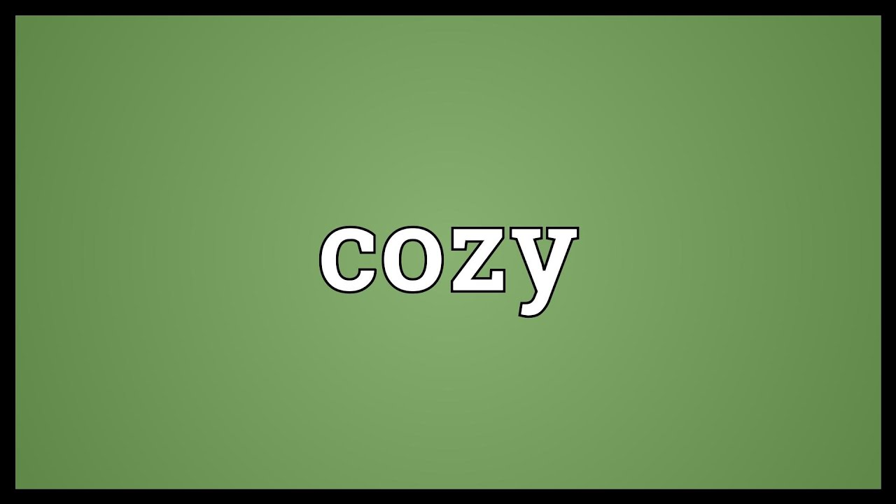 cosy cozy dictionary