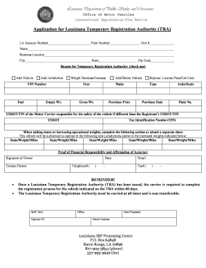 application for temporary authority