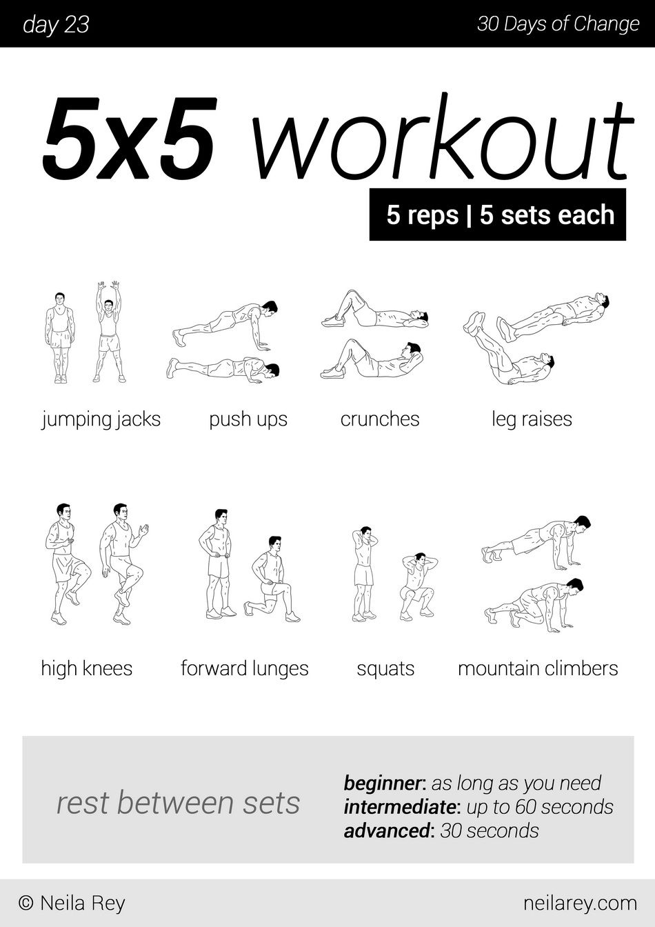 daily exercise routine at home pdf