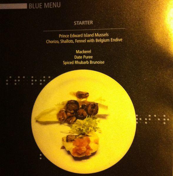 dans le noir menu sample