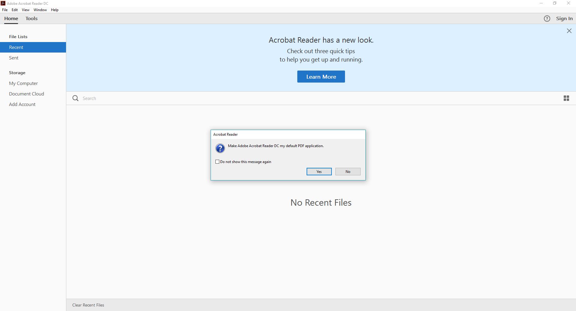 default pdf viewer