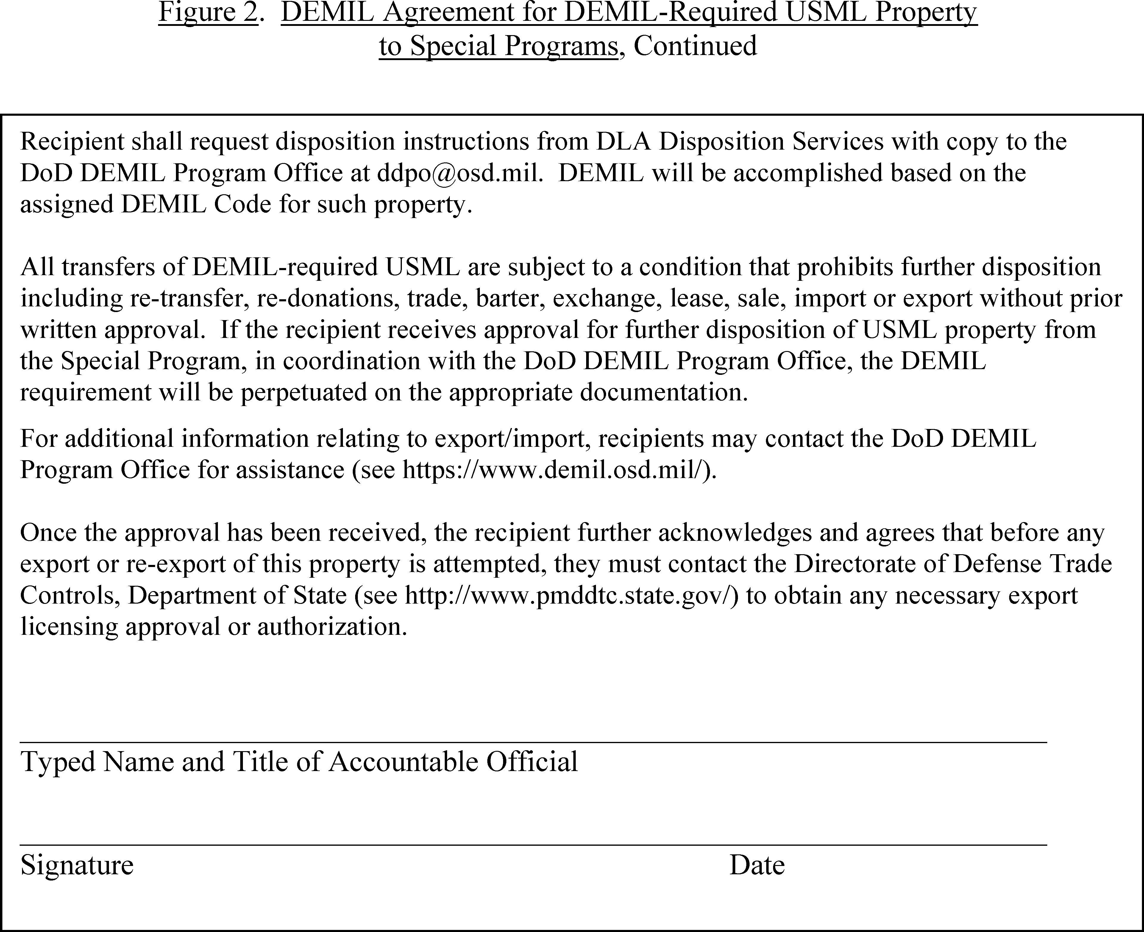 demil code f instructions
