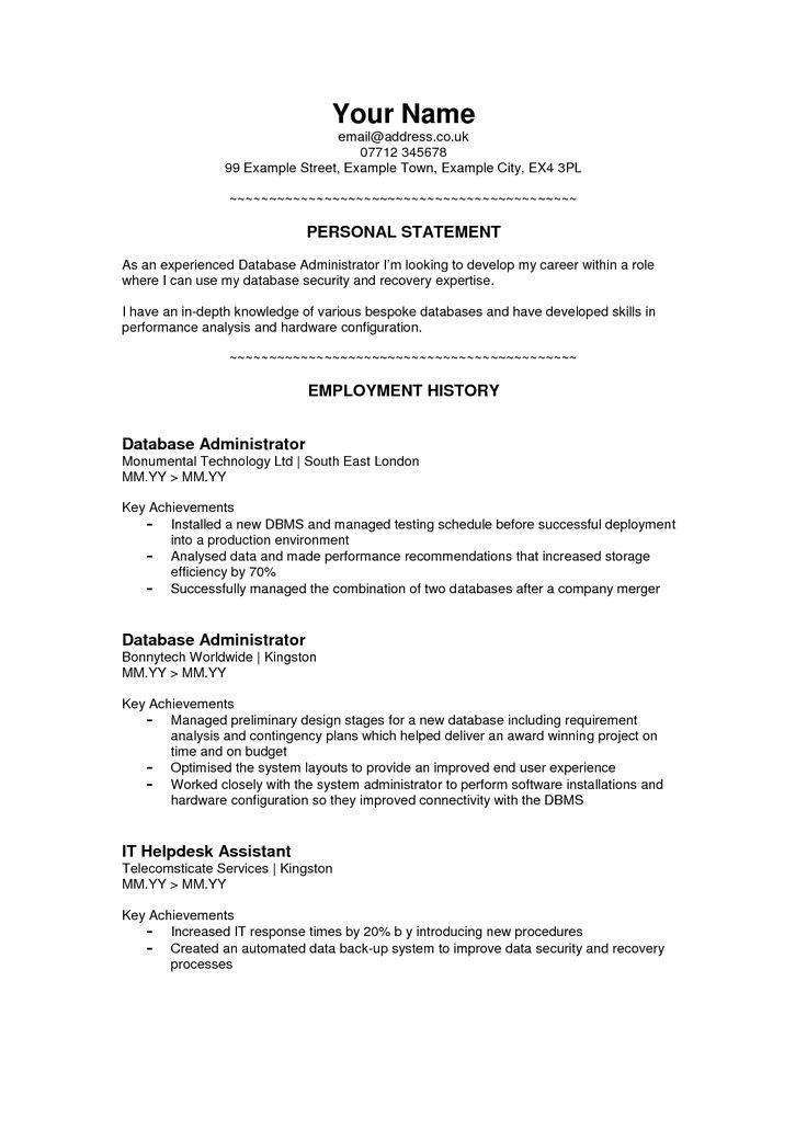 devops cv sample personal statement