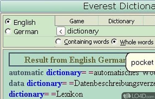 dictionary frei