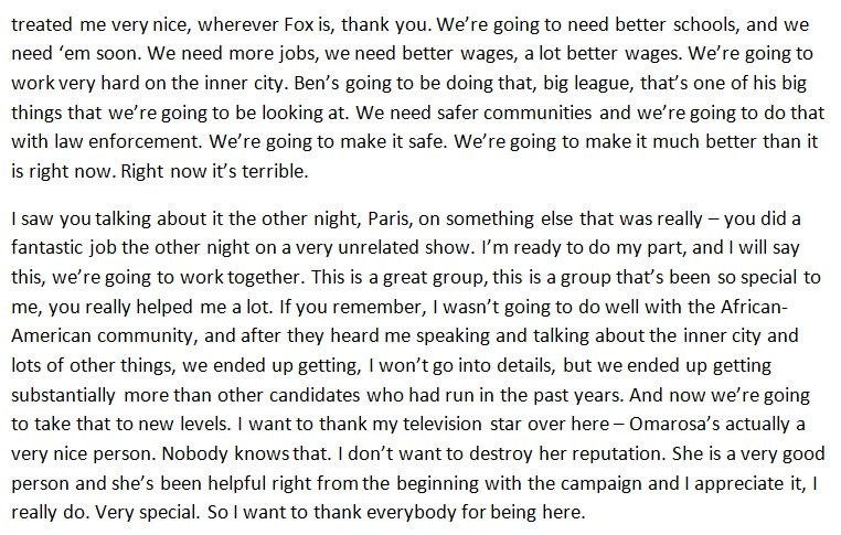 donald trump speech transcript pdf
