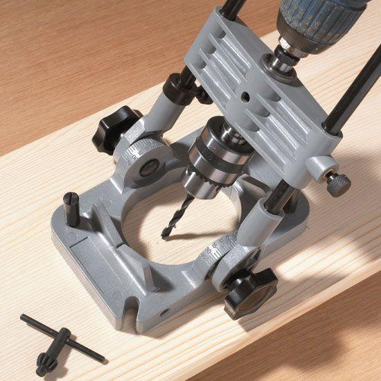 drill press guide for hand drill
