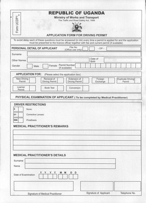 driving licence renewal application