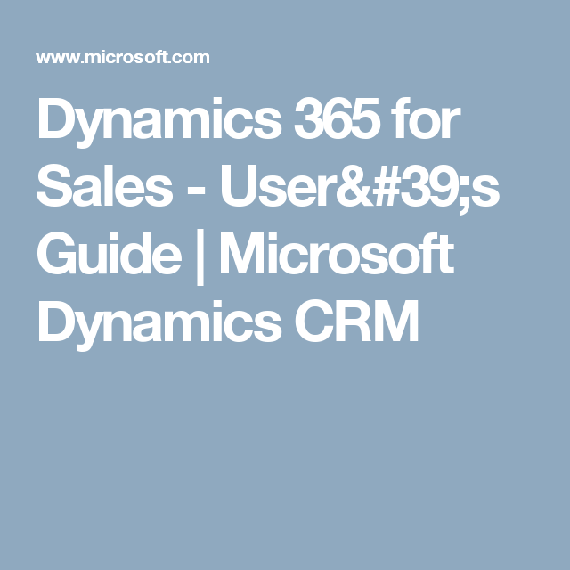 dynamics 365 user guide pdf
