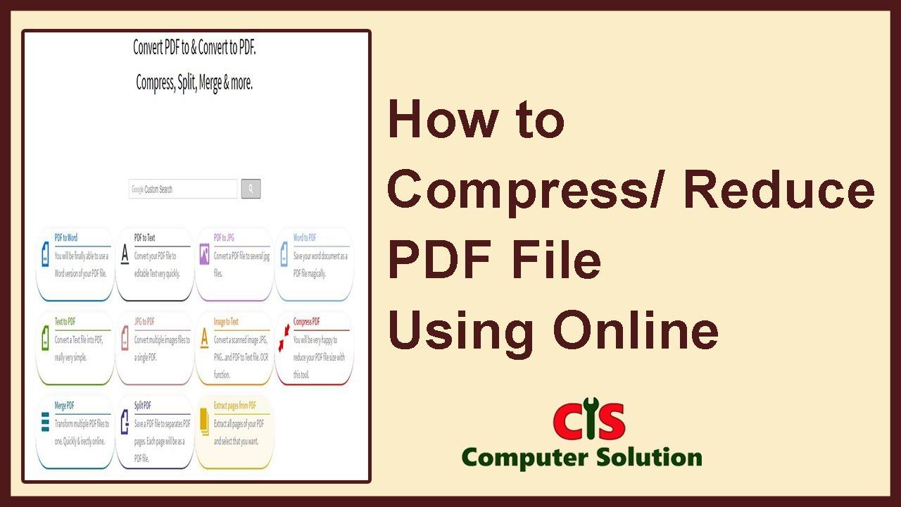 compress pdf file size online
