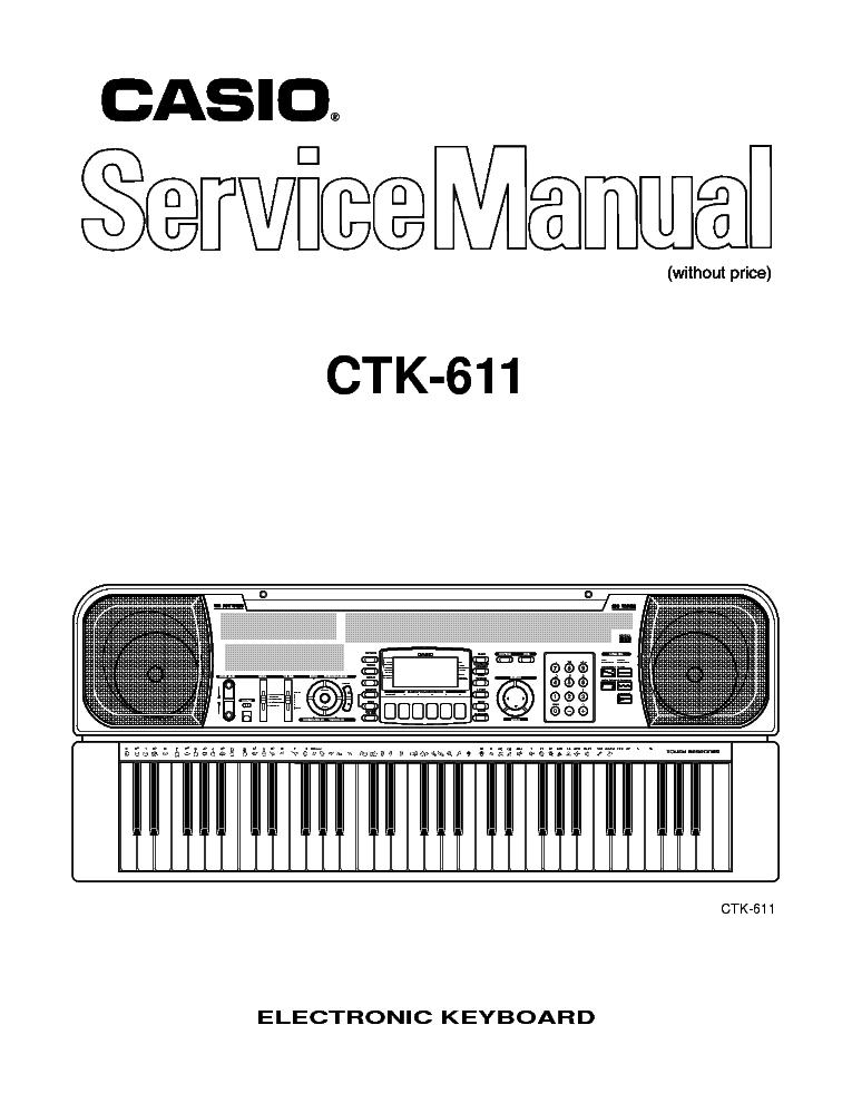 casio ctk-731 service manual