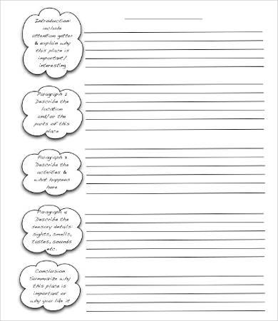 descriptive essay outline template pdf
