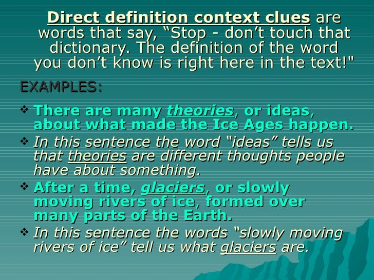 antonym for context dictionary