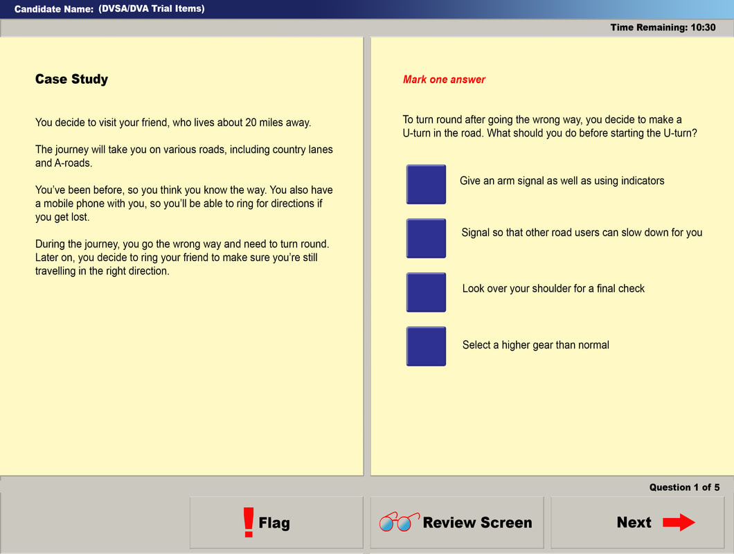 aa licence theory test sample