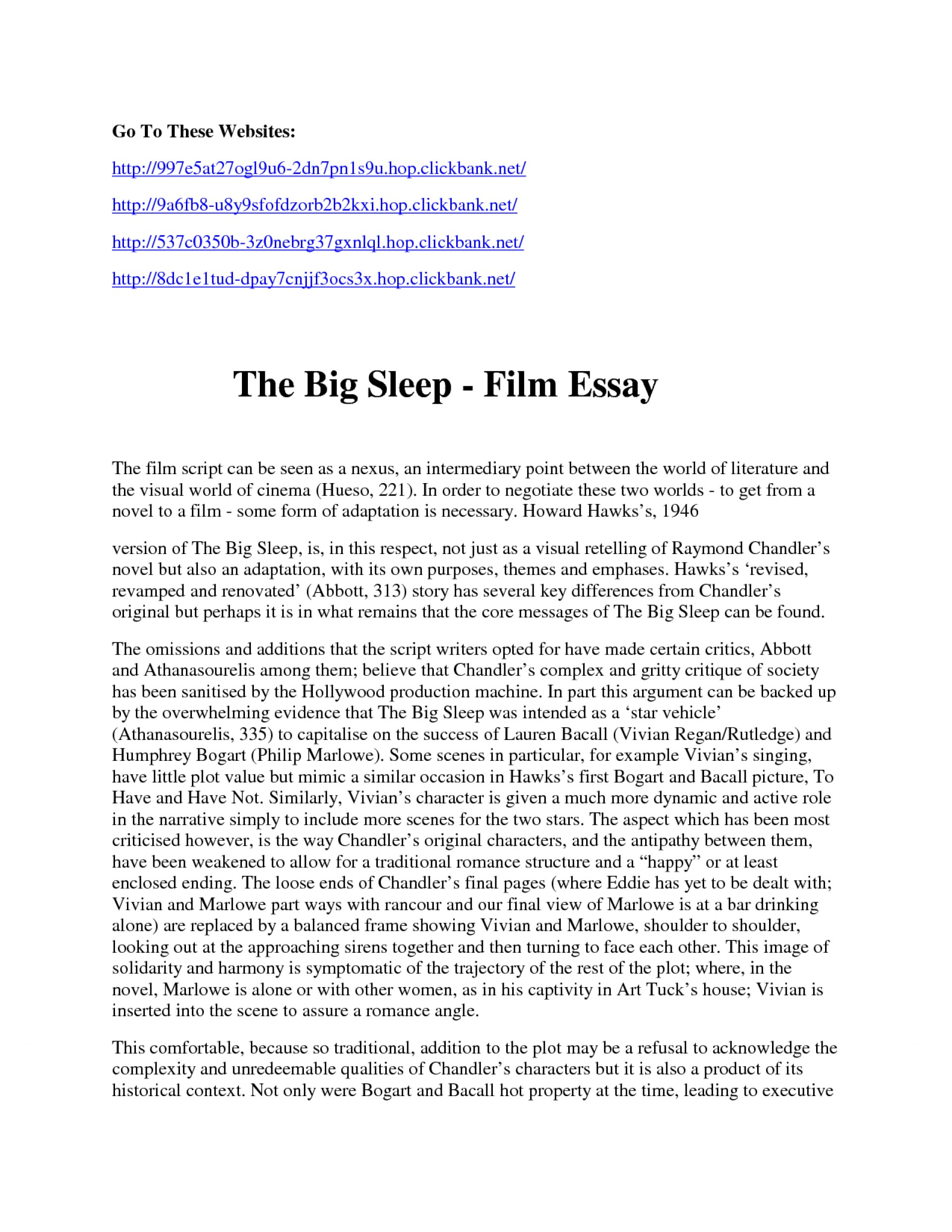 critique paper sample of a movie