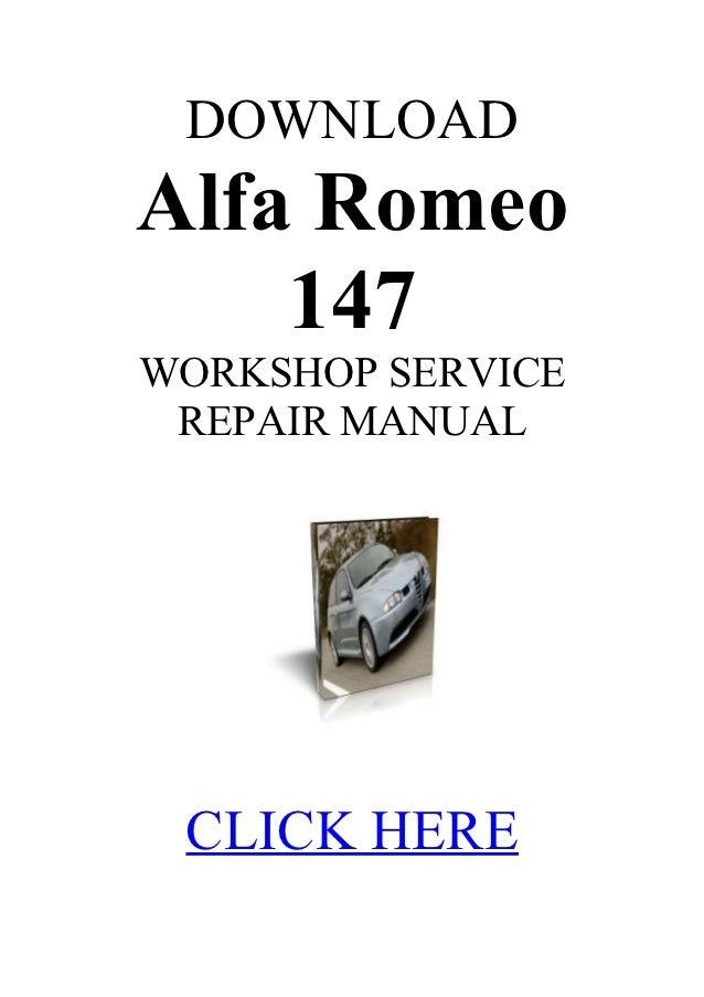 alfa workshop manual