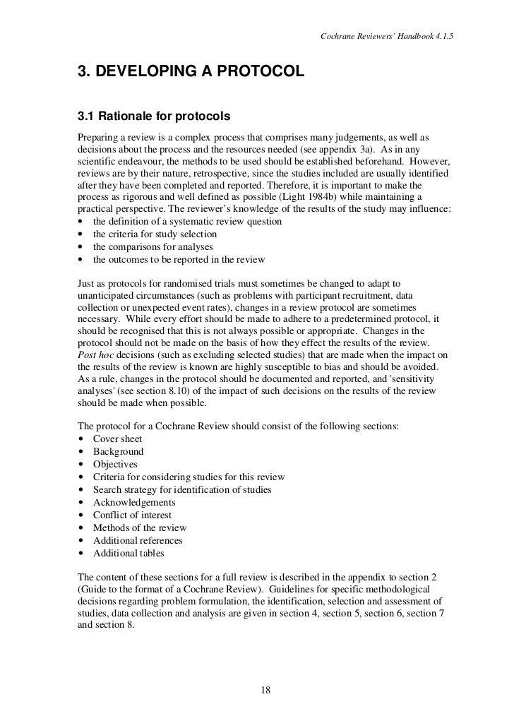cochrane review handbook