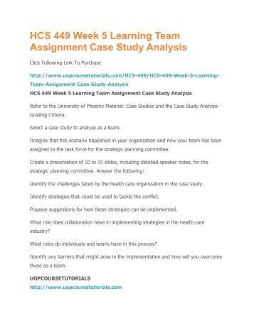 case study assignment pdf